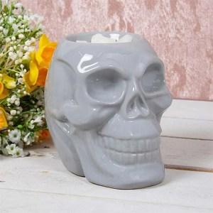 Photo of grey skull oil burner/wax melter