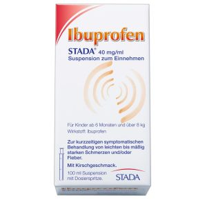 Ibuprofen STADA® 40 mg/100 ml Suspension, Suspension zum Einnehmen,  100 ml 3,80 € / 100 ml
