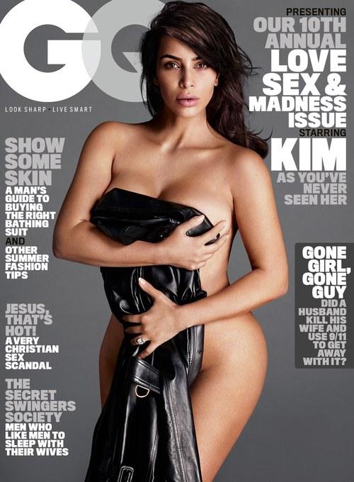 Kim Kardashian en couverture de GQ du mois d'Août 2016