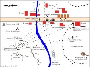 Plan de la bataille d'Eccles Hill