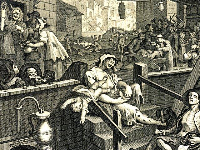L'épidémie de gin qui a failli détruire la ville de Londres