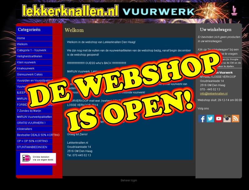 Webshop is nu open