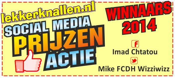Uitslag Lekkerknallen.nl Social Media Actie 2014