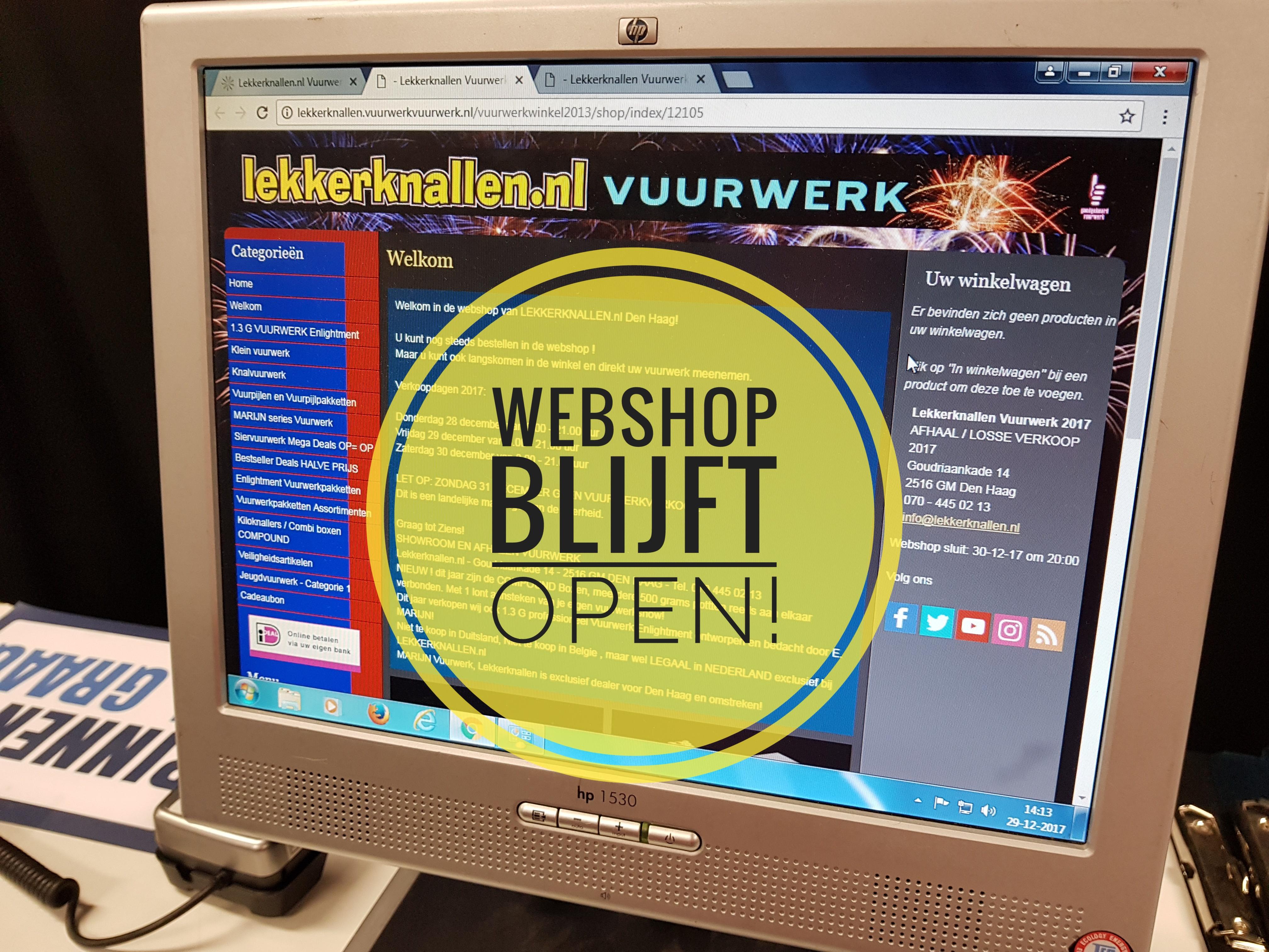 Vuurwerk Webshop Blijft Open Tijdens Verkoopdagen!