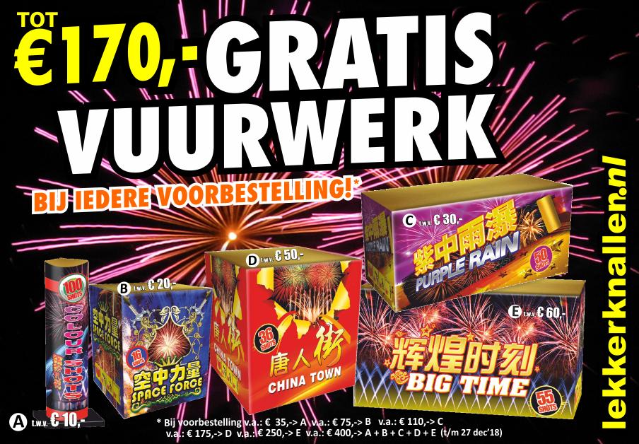 Gratis Vuurwerk Lekkerknallen 2018