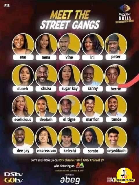 BBNaija 2021 Street Gang House Mates