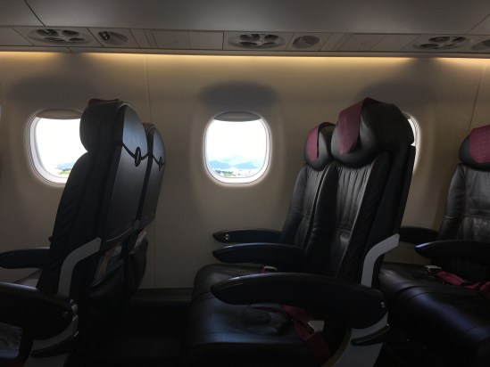 JAL E190 seat