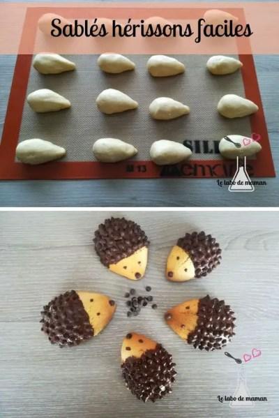 sablés hérisson companion biscuits enfants faciles