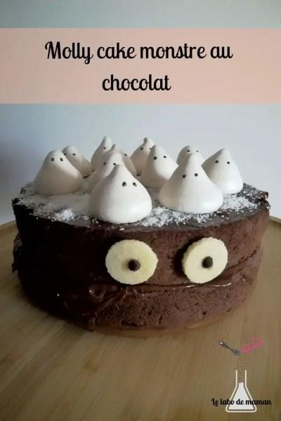 gâteau - chocolat - halloween - monstre - ganache -fantôme - meringue - facile - companion -