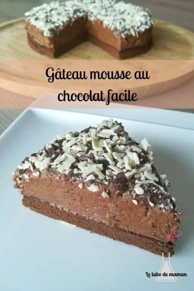 gâteau - chocolat - facile - dessert - tout chocolat - génoise chocolat - mousse au chocolat - companion