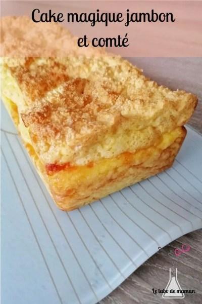 cake magique, gateau magique, gâteau magique salé, apéro, companion, texture, jambon, comté, recette originale