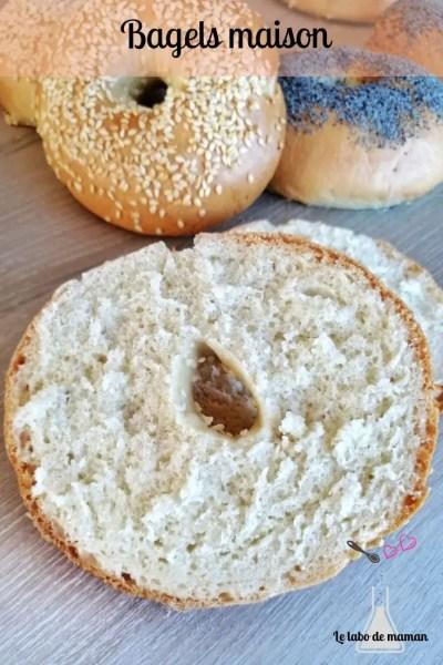 bagels, pâte à bagels, bagels maison, sandwich, pique nique, à emporter, recette, robot, companion