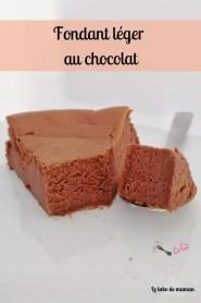 fondant léger chocolat companion