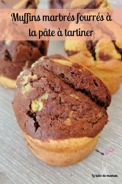 muffin marbré fourré Nutella