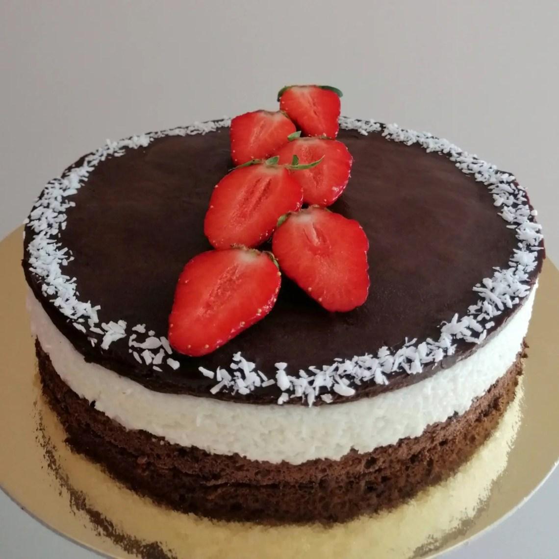bounty cake gâteau chocolat noix de coco