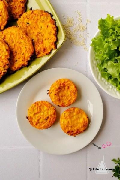 galettes carottes ricotta