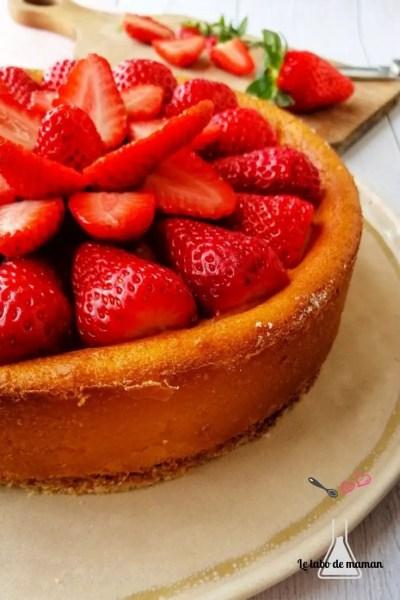 gâteau fromage blanc fraises