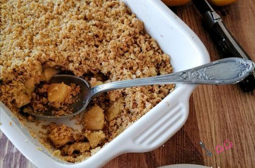 recette crumble pommes avoine