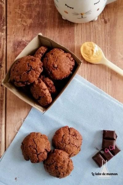 Biscuits chocolat et cacahuète