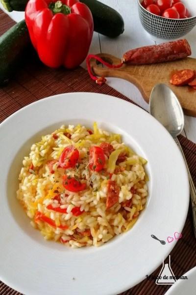 risotto courgettes chorizo companion