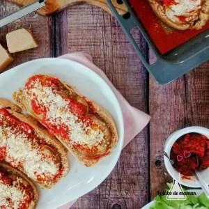 bruschettas parmesan aubergine