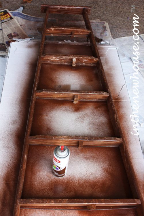 faux-stain-on-vintage-ladder-683x1024
