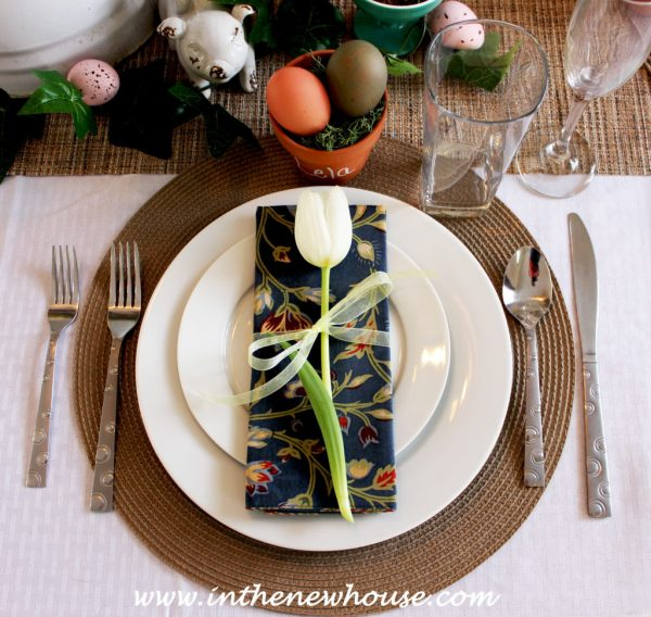 Vintage Garden Place Setting