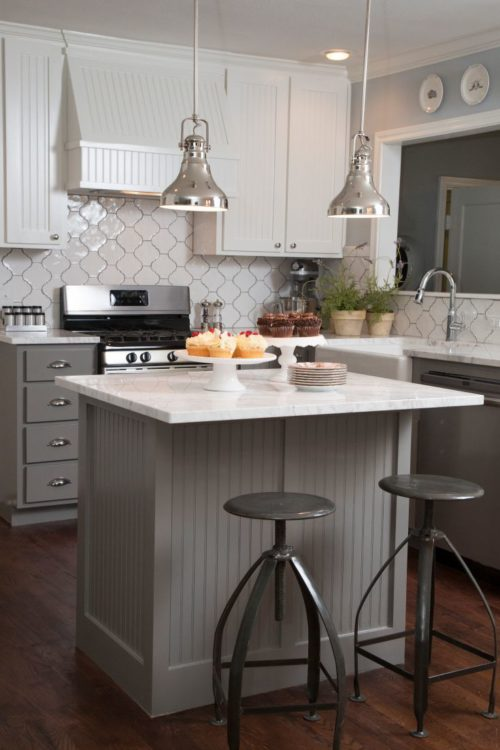 Install tile backsplash to add character to a home kitchen