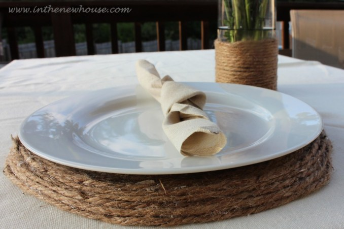 Jute Placemat and Vase