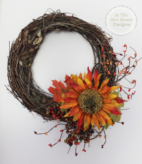 Use Interchangeable Floral Groupings On A Grapevine Wreath To Easily Change Out For Holidays