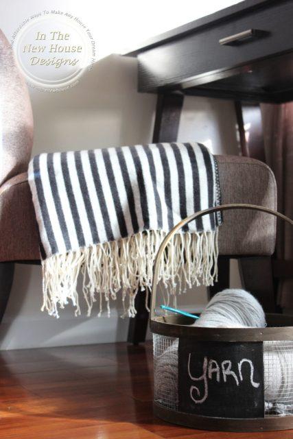 Crochet Yarn in a rustic basket looks pretty even when not in use