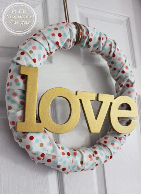 DIY Valentine Fabric Wreath