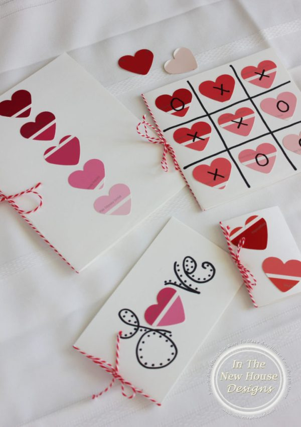 Paint Chip Valentines Cheap and Easy Project