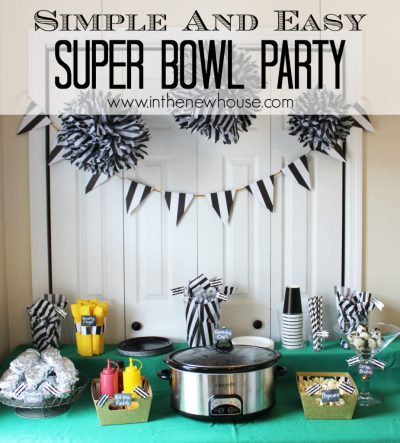 Simple And Easy Super Bowl Party Table Setup and other great tips from In The New House Designs