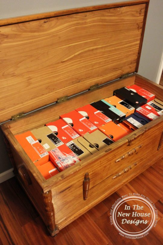 Use a cedar chest for shoe storage