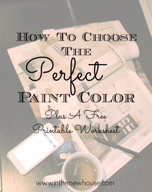 How To Choose The Perfect Paint Color