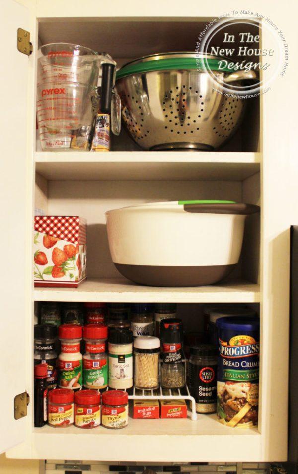 Organized kitchen baking cabinet