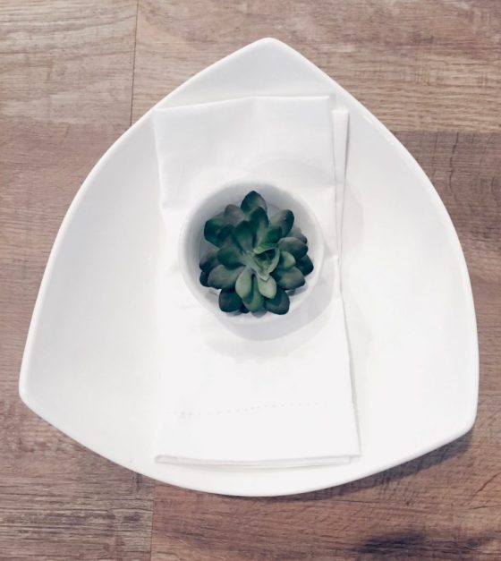 Succulents make the perfect table accessory