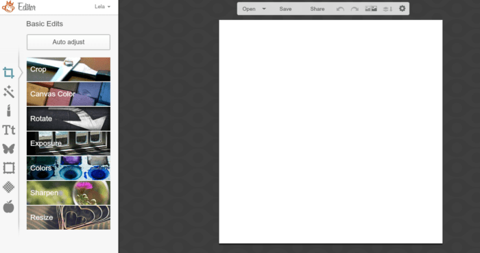 Start with a blank canvas