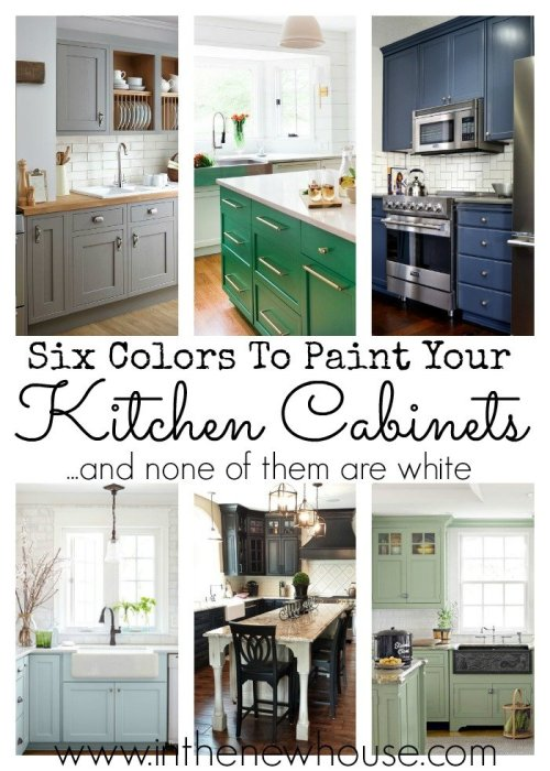 These six colors are the perfect way to add color to a plain white kitchen