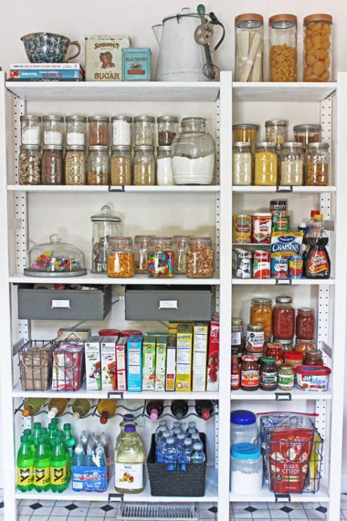 organized open pantry