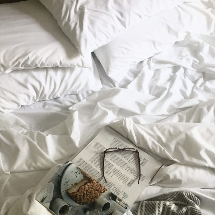 Classic white sheets and duvet cover
