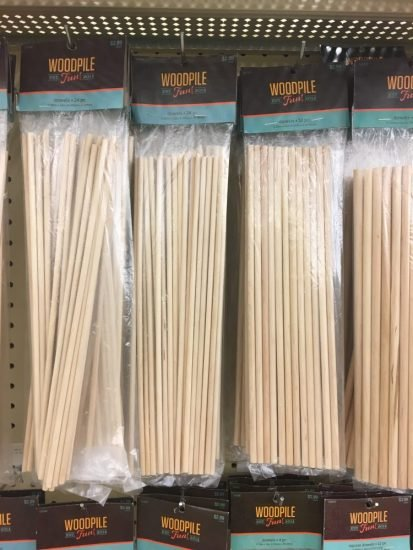 Wooden Dowels for Letter Board at Hobby Lobby