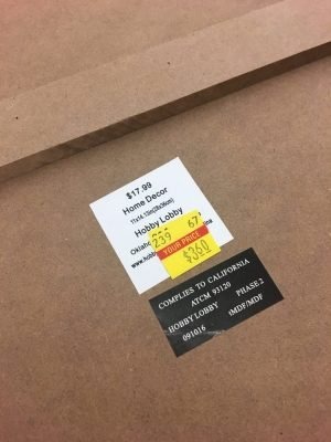 Clearance sign for a cheap frame for projects