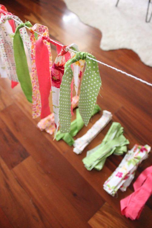 fabric scrap garland tutorial