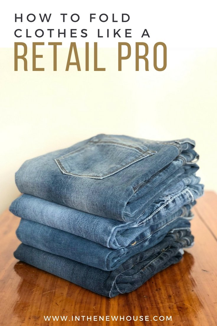 the right way to fold shirts and pants