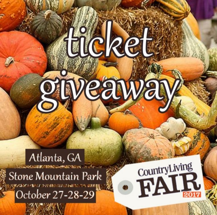 Country Living Fair Atlanta Ticket Giveaway