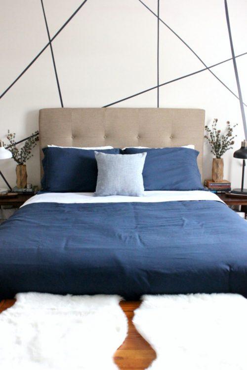 minimalist christmas winter bedroom decor