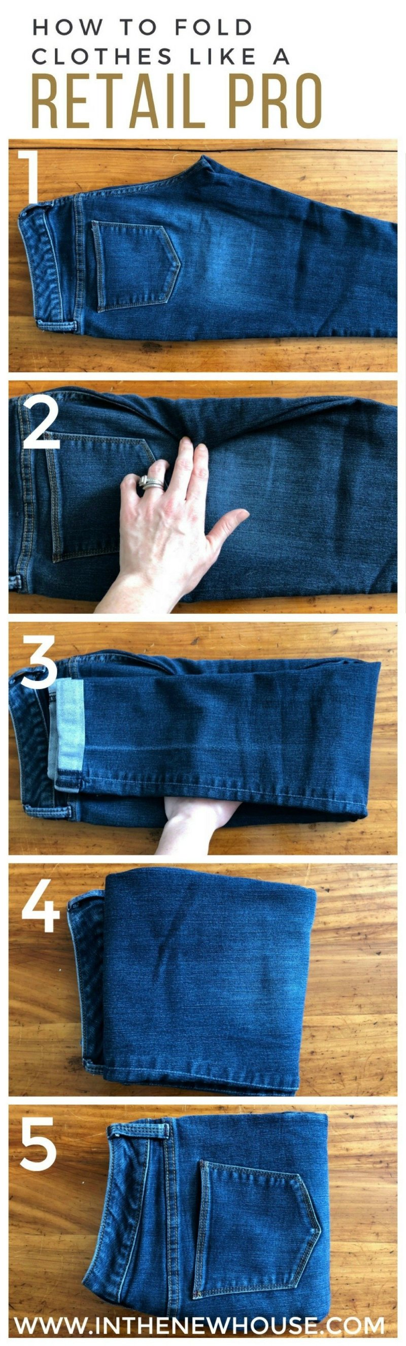 How To Fold Clothes Like A Retail Pro Organized Ish By Lela Burris