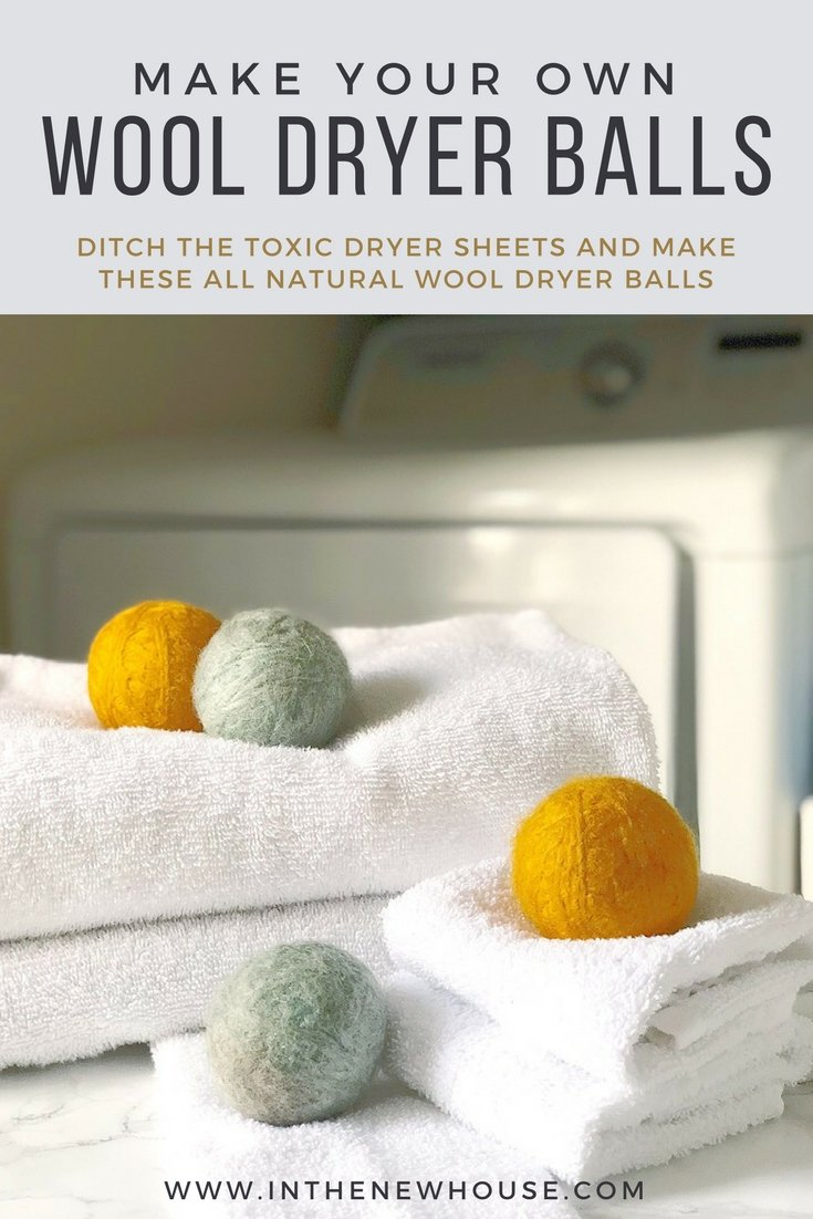 these diy wool dryer balls are a great alternative to dryer sheets. They're clean, natural, and decrease laundry dry times